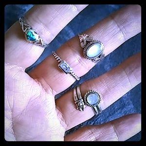 Jewelry - Ladies Silver Rings Bundle